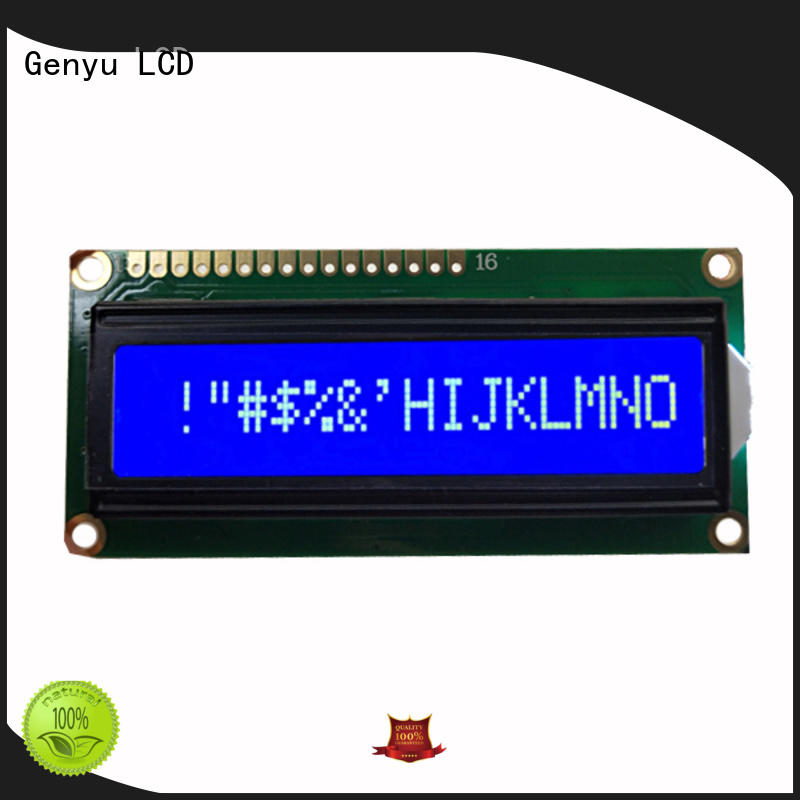 Genyu Custom lcd character display modules suppliers