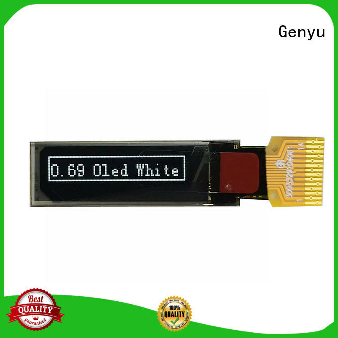 Genyu quality oled transparent display factory for instruments