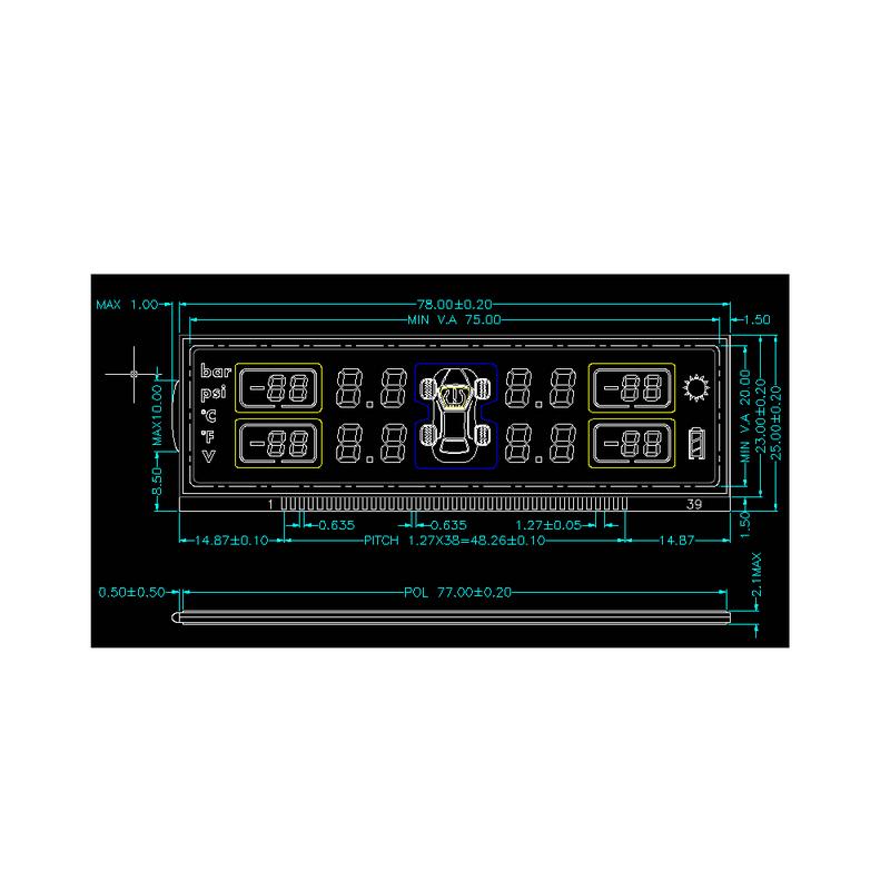 Genyu gy8056a custom lcd screen for instrumentation-1