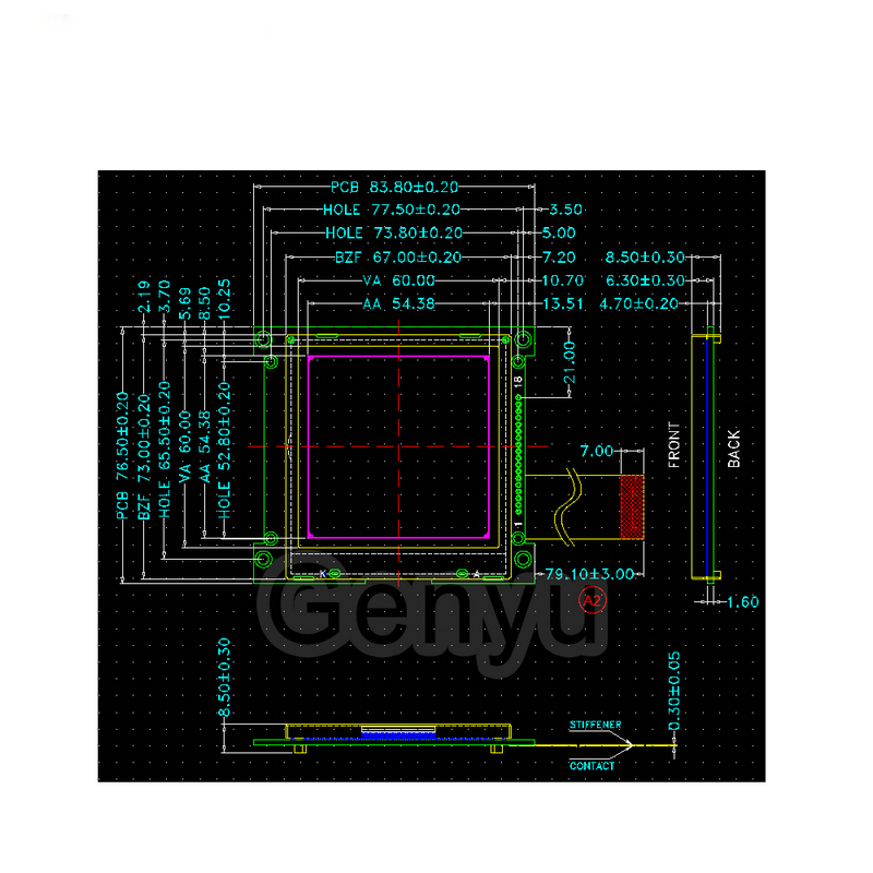 Genyu Top lcm display suppliers for medical equipment-2