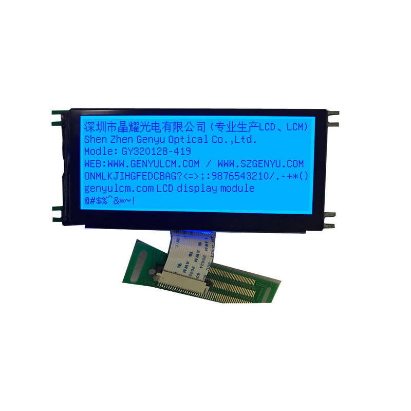 320x128 Dot Matrix COB LCD Blue Background Graphic LCD Module