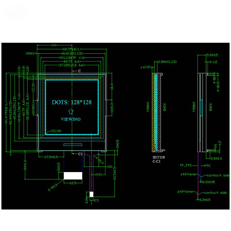 Genyu module lcd screen display supply for industry-1