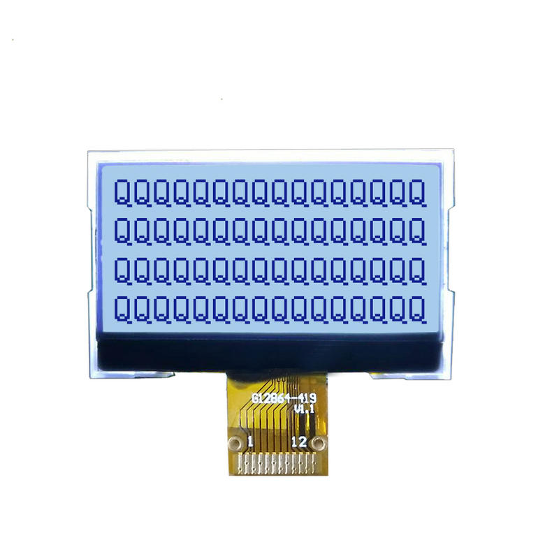 monochrome lcd screen 12864 COG+FPC LCD Display with LED Backlight