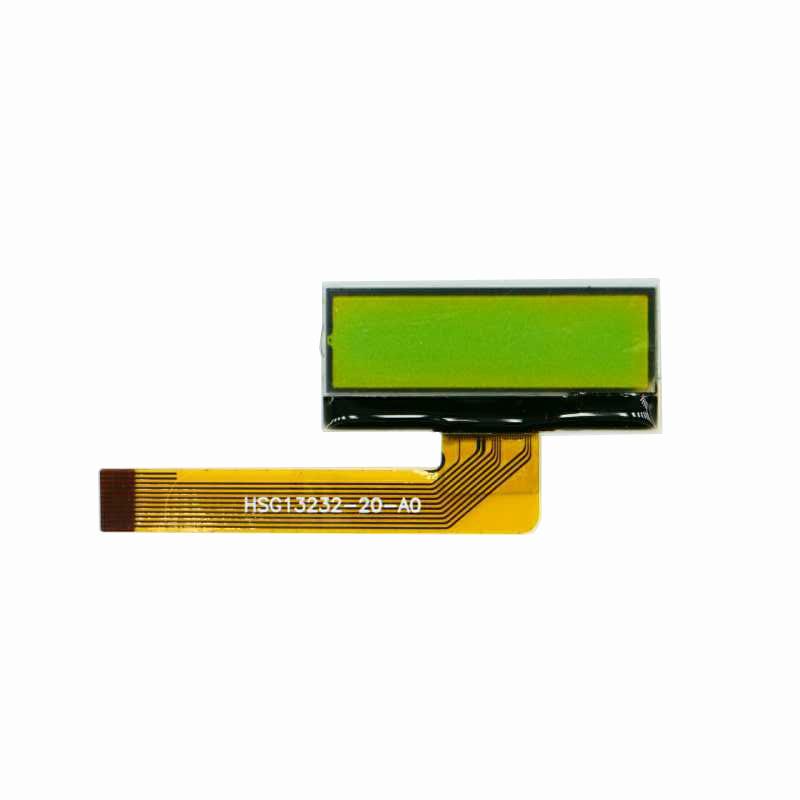 COG Type STN Yellow Green 132*32 dot matrix lcd display manufacturers