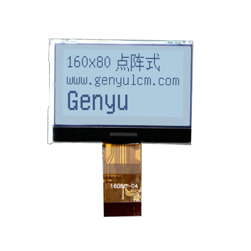 Mono white 16080 LCD Display 160*80 dot Graphic lcd supplier