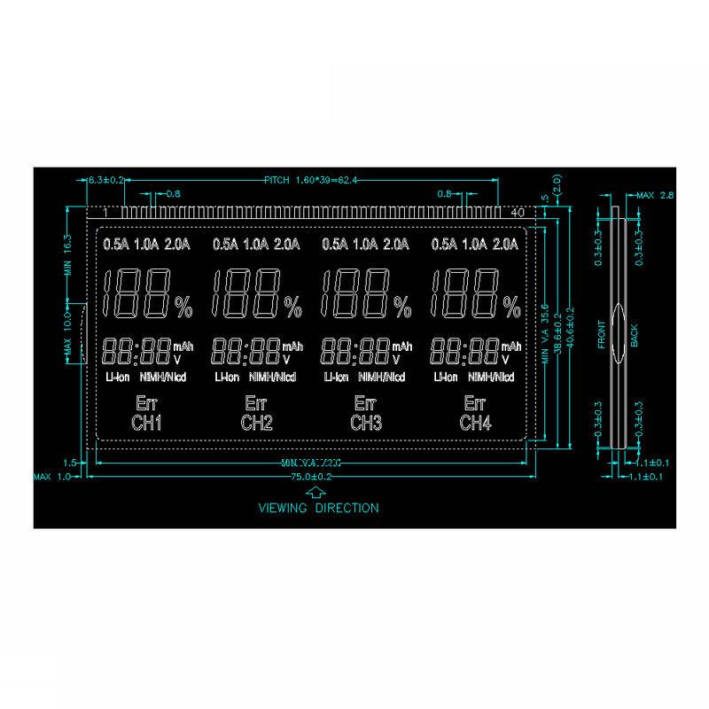 Custom LCD Display Segment GY6071