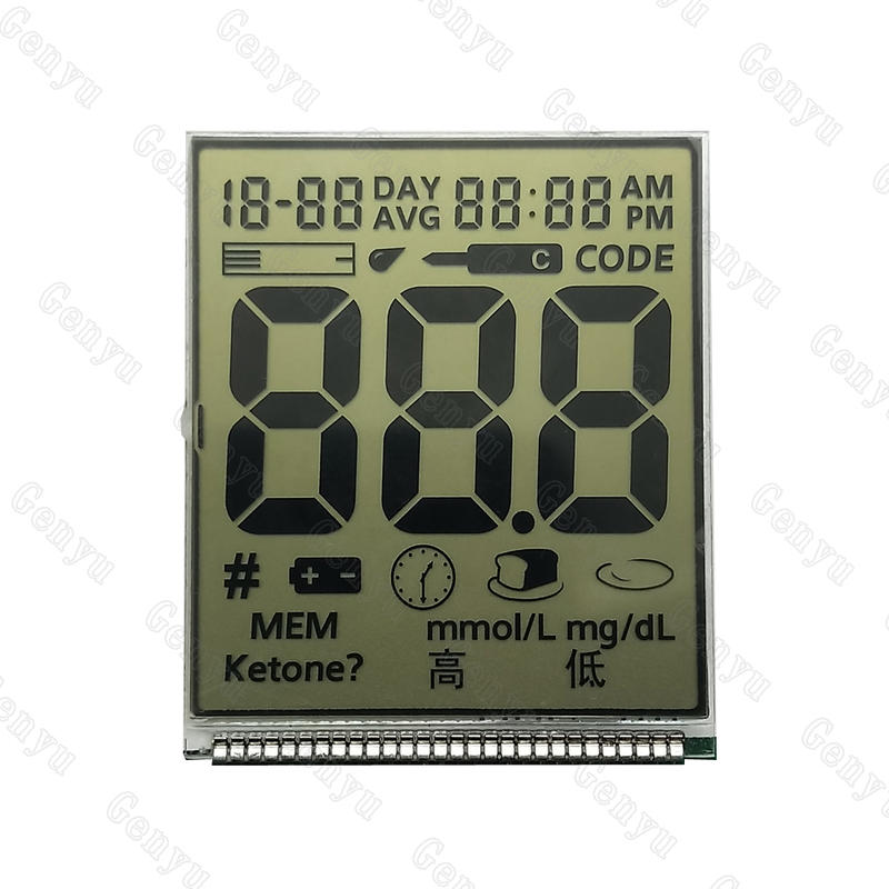 LCD Manufacturer HTN 7 Segment Display For Glucometer Screen