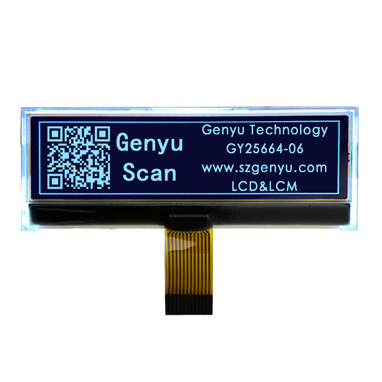 Custom LCD Display OEM 256*64 Dots Matrix Graphic Monochrome LCD Display For Car radio