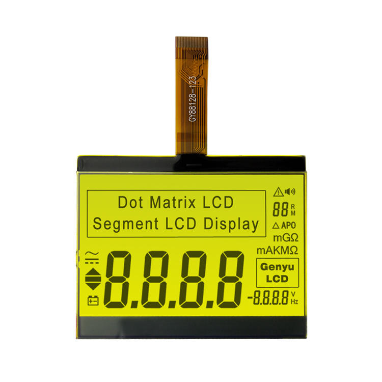 Custom 7 Segment LCD Display For Multimeter LCD
