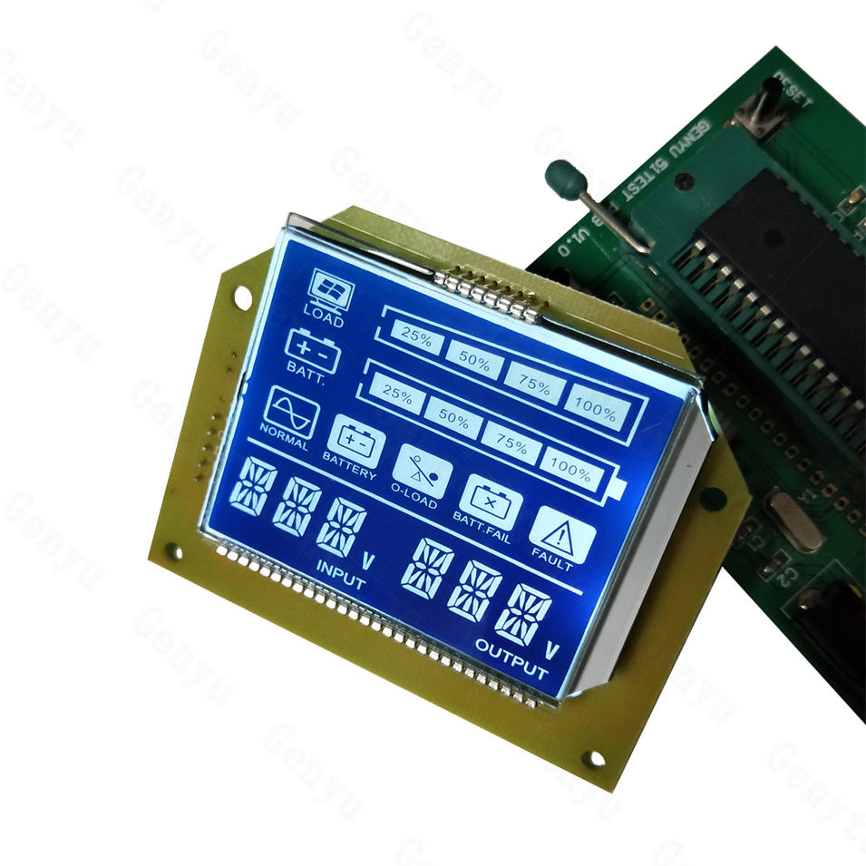 Custom LCD Display 7 Segment lcd Display For UPS