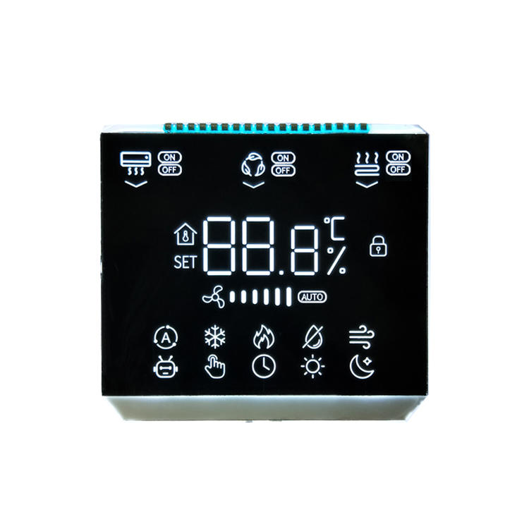 Customized BTN Black LCD Display Segment LCD For Digital Home Thermostat