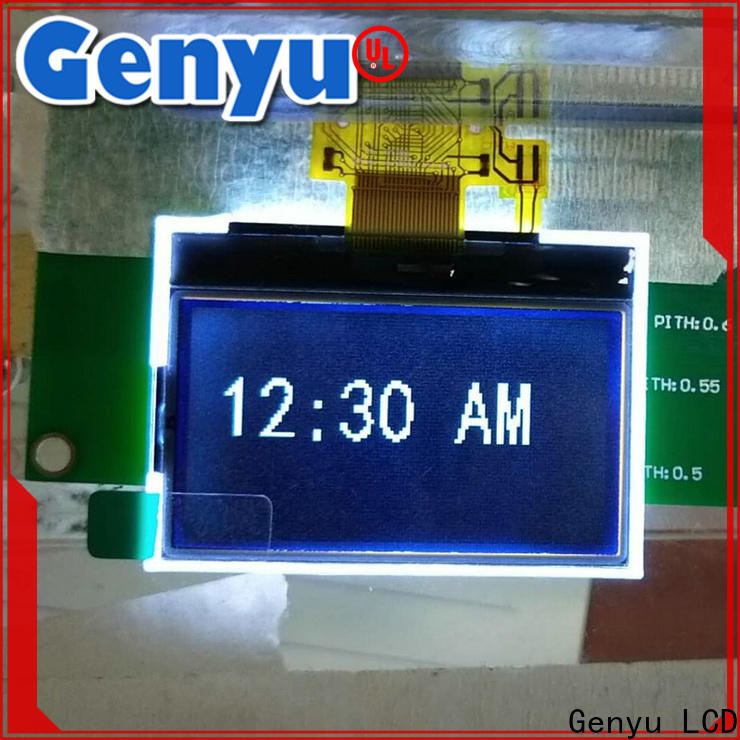 Genyu yellow dot matrix lcd display module manufacturers for smart home