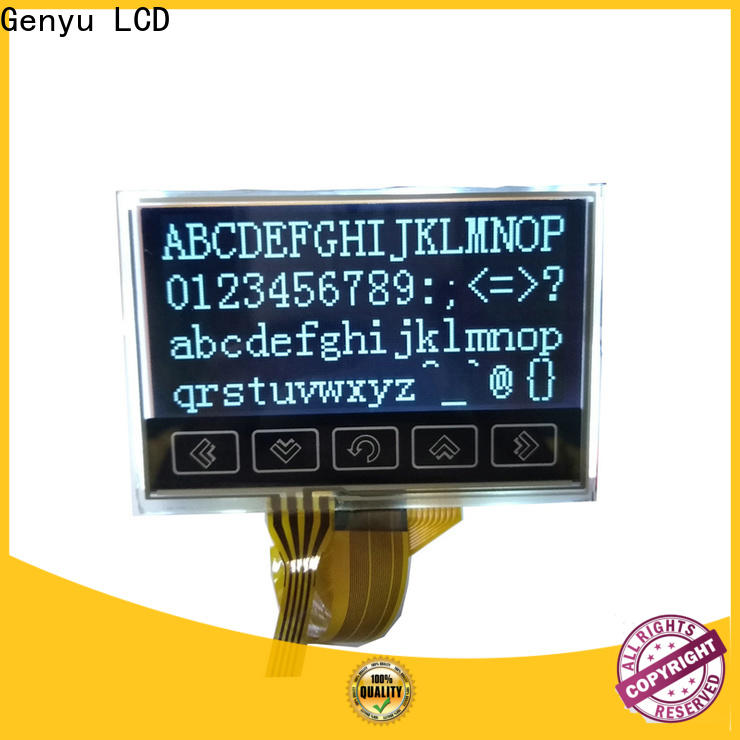 Genyu 192x64 graphic lcd 128x64 factory for equipment