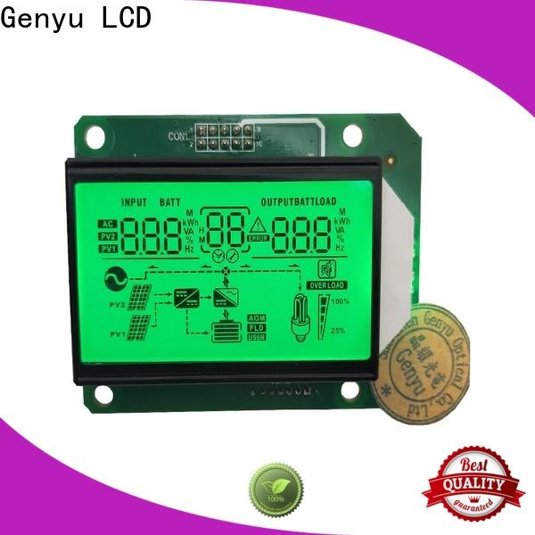 Genyu black lcd display custom factory for instrumentation