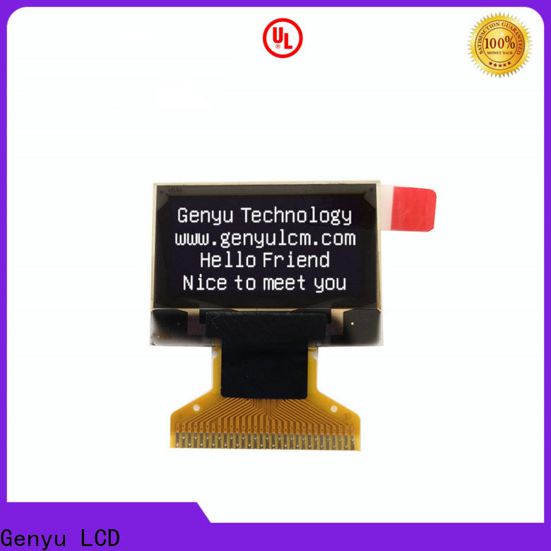 Genyu yellow oled lcd module manufacturers for instruments