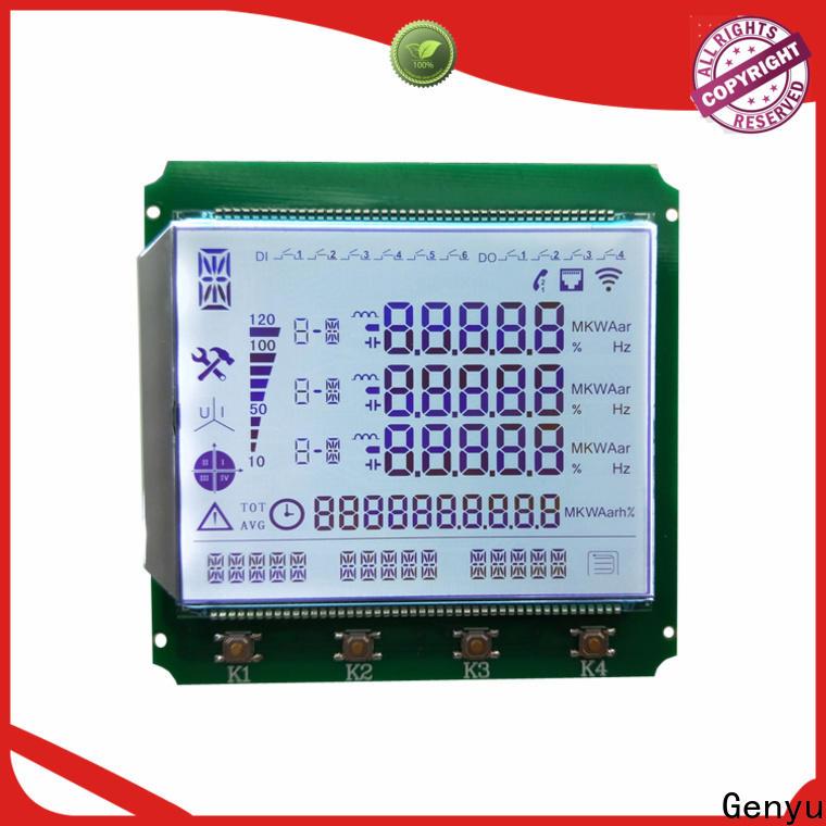 Custom segment lcd display gy8812825 supply for machines