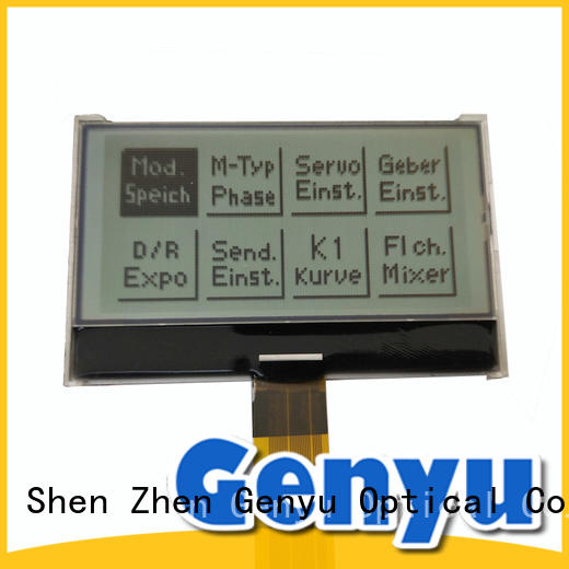 12864 Monochrome customized screen 128x64 graphic LCD display panel Factory