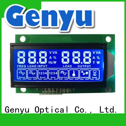 Genyu new design segment lcd screen manufacturer exporter for fax machines