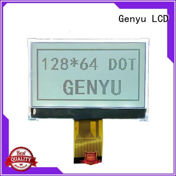 Genyu 128x64 dot matrix lcd company for industry