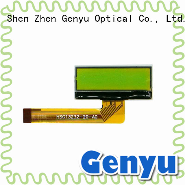 Genyu top quality 128 x 64 graphic lcd display green for equipment