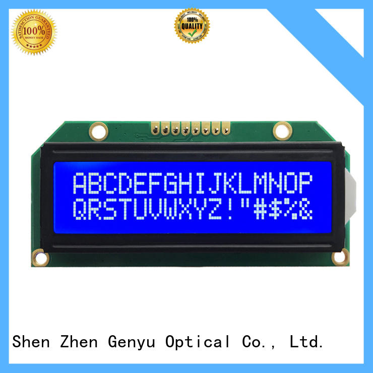 Custom character lcd display gy1602c5ax229 for aerial molds