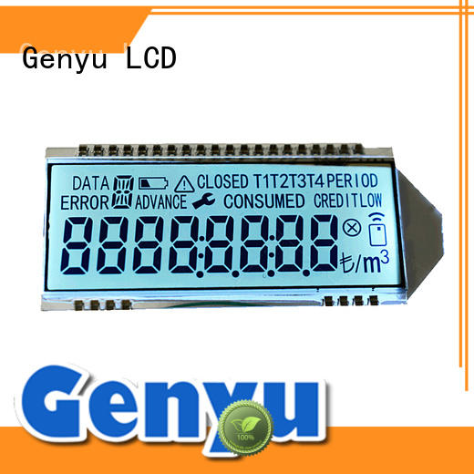 Genyu gy8812854 segment lcd display company for meter