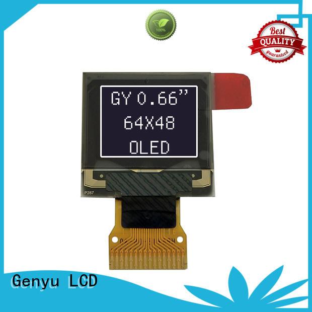 Genyu 64x48 oled transparent display supply for sports watch