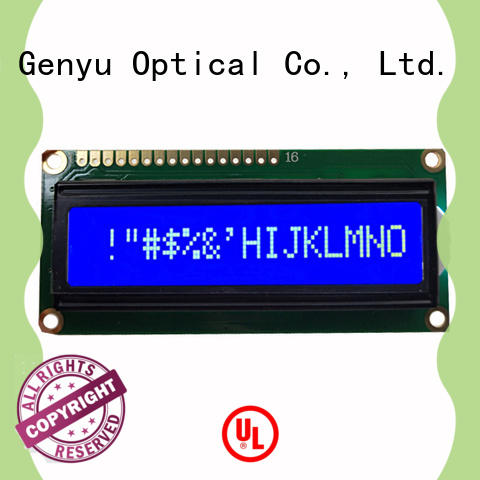 Genyu 1602a9 character display modules company