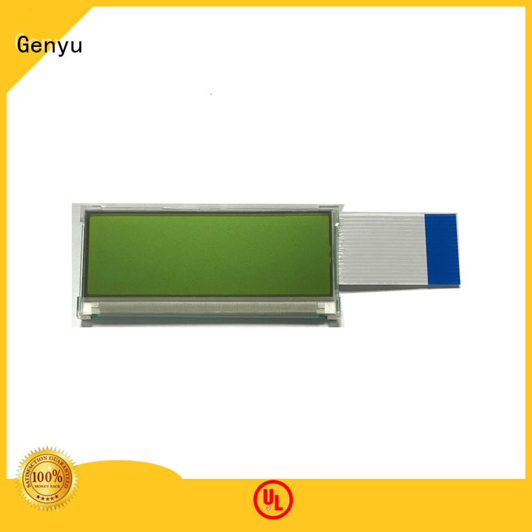 Genyu green mono lcd display for business for equipment