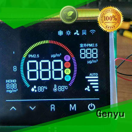 Genyu black custom lcd screen factory for instrumentation