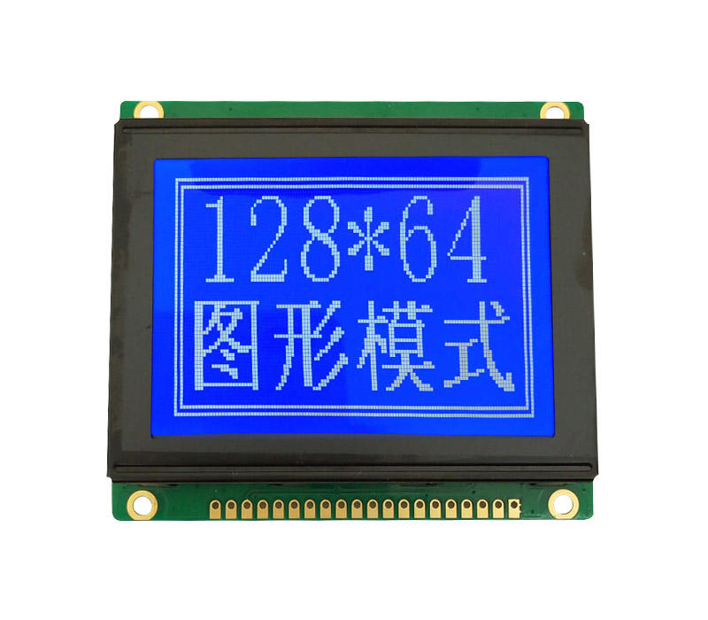 COB LCD Module STN Blue Screen 128x64 liquid crystal display supplier