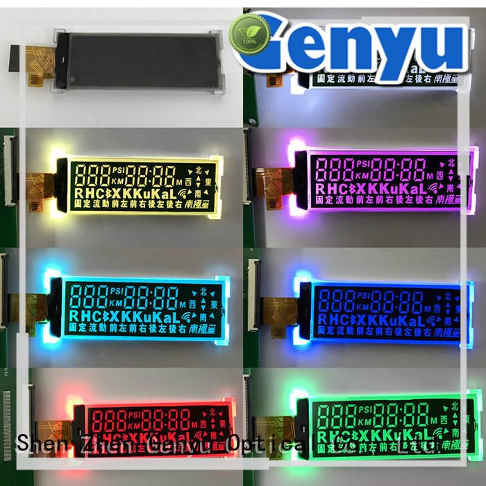 Genyu segment lcd custom for business for video