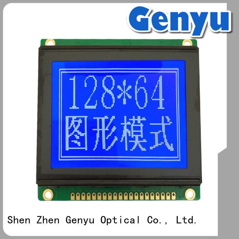 COB LCD Module STN Blue Screen 128x64 liquid crystal display supplier