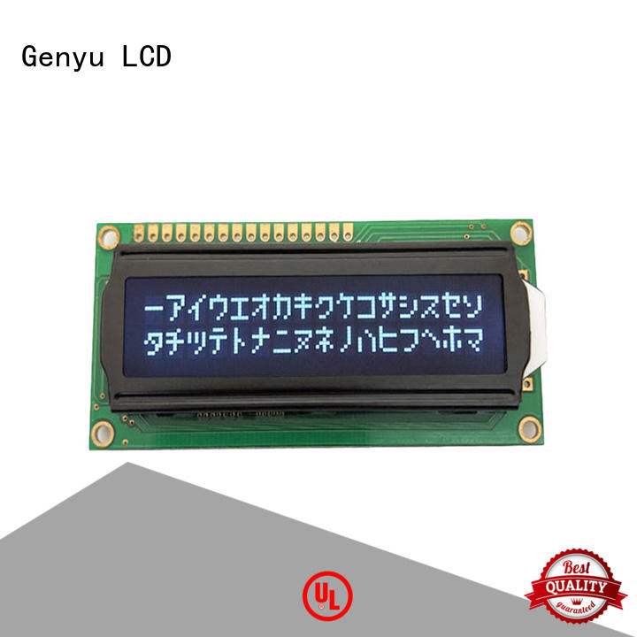 Genyu modules character lcd display factory for home radios