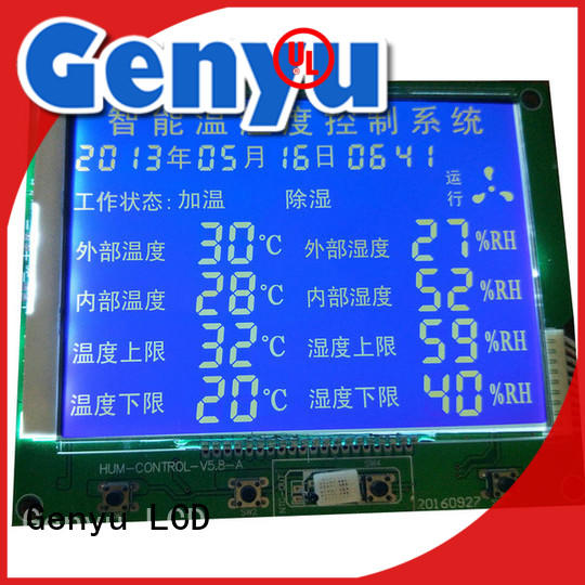 Genyu lcd segment lcd display for business for instruments