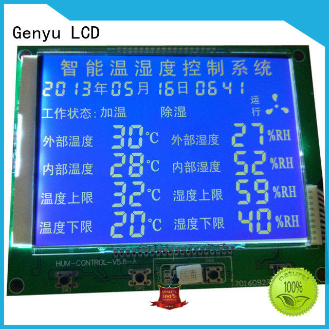 Genyu Custom segment lcd screen company for fax machines