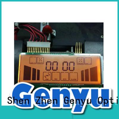 Genyu international market custom made segment lcd screen quality for instrumentation