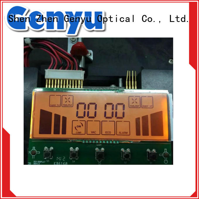new design customized segment lcd display renovation solutions for video Genyu