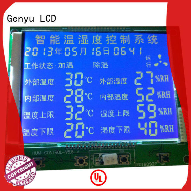 Genyu size custom lcd manufacturer for meter